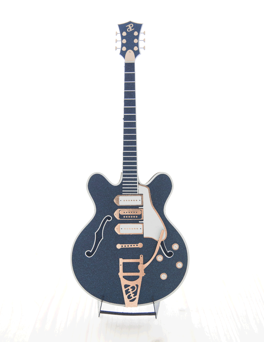 papier plié guitare