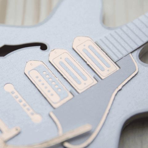 guitare papier design