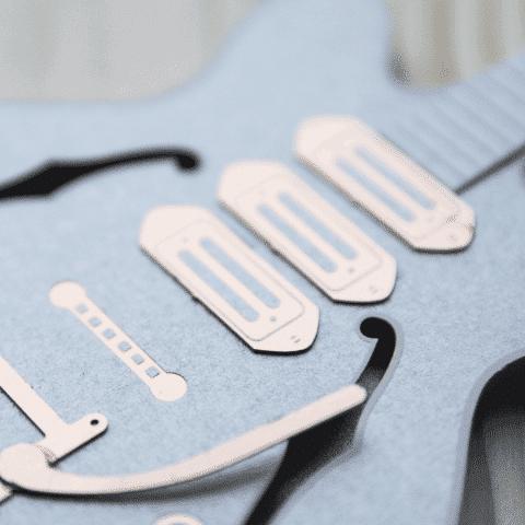 guitare électrique papier
