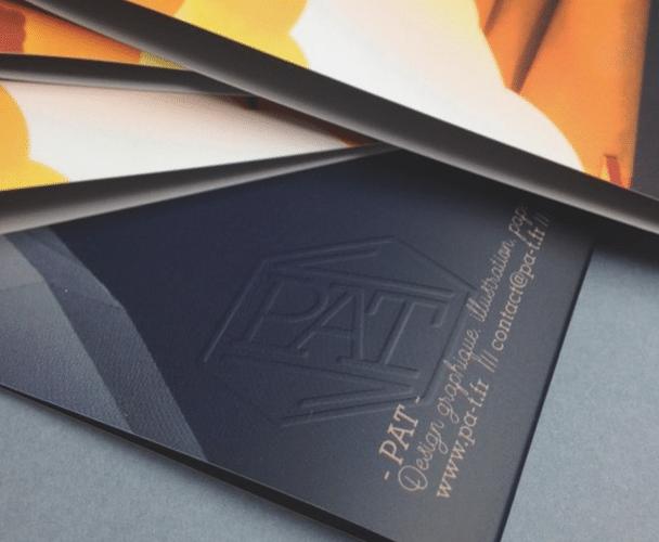 gaufrage papier design