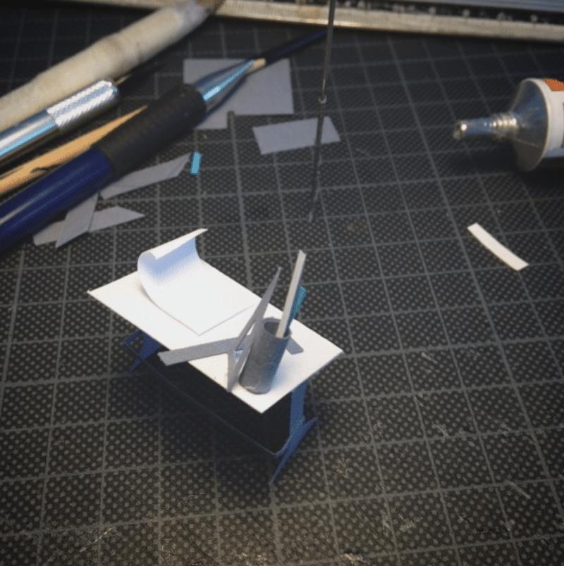bureau, desk, papier