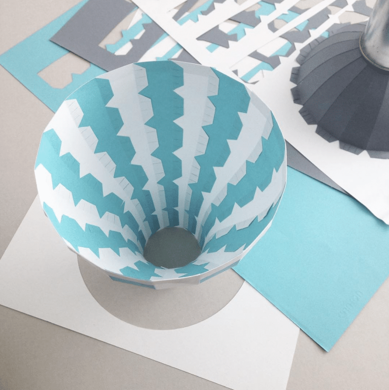 papier illustration montgolfière
