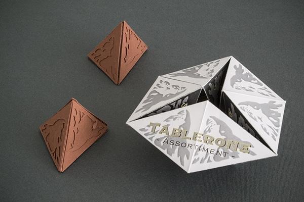 toblerone packaging papier